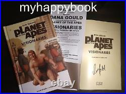 SIGNED Planet of the Apes Visionaries by Rod Serling and Dana Gould, autographed