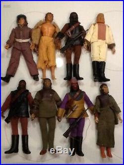 Set of 8 PLANET OF THE APES Action Figures MEGO 1974 VTG Urko URSUS Zaius ZIRA