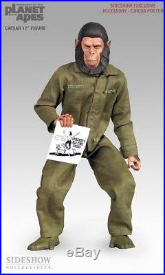 Sideshow Toys Conquest Planet of the Apes (PotA) Caesar Exclusive 12 Figure NIB