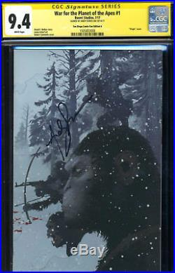 Ss Cgc War For The Planet Of The Apes 1 Andy Serkis Signed Virgin Sdcc Cover