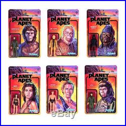 Super7 Planet Of The Apes 3.75 ReAction Figures 6 Characters