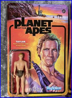 Super7 Planet Of The Apes POTA Complete Wave 1 Unpunched ReAction Figures