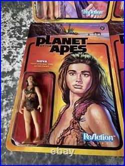 Super7 Planet Of The Apes POTA Complete Wave 1 Unpunched ReAction Figures New