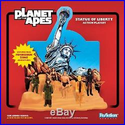 Super7 Planet of the Apes Statue of Liberty ReAction Playset 2018 SDCC New