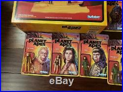 Super7 ReAction Planet of The Apes Complete Action Figure Set with Exclusives