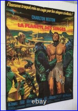 THE PLANET OF THE APES, 1968 (RR1972) Charlton Heston VERY NICE 24x33