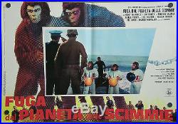 UF90 ESCAPE FROM PLANET OF THE APES 8 orig POSTER ITALY