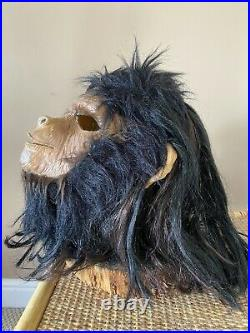 Ultra Rare Stunning Planet Of The Apes Latex Adults Cosplay Chimp Mask 1970