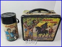 VINTAGE 1974 PLANET OF THE APES LUNCHBOX with THERMOS