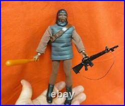 VINTAGE MEGO PLANET OF THE APES 1970's SOLDIER APE SILVER TUNIC VARIANT
