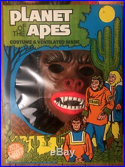 VINTAGE Planet of the Apes WARRIOR Costume Ben Cooper'74 CollegevillePROTOTYPES