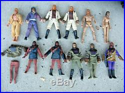 Vintage 11 Planet of the Apes Mego Dolls (1974) cage, small gun+extra clothes
