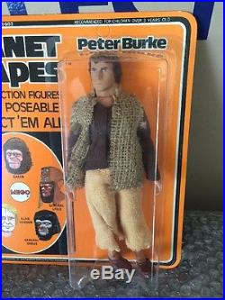 Vintage 1967 Mego Planet Of The Apes Peter Burke Unpunched Case Fresh WOW