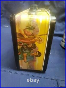 Vintage 1974 Aladin Planet Of The Apes Metal Lunchbox With Thermos
