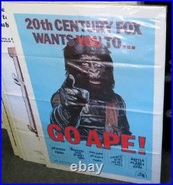 Vintage 1974 GO APE Planet of the Apes FESTIVAL ORIGINAL MOVIE POSTER