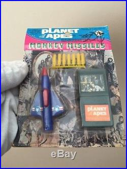 Vintage 1974 Larami Planet Of The Apes Monkey Missiles Complete Set Of 3 RARE