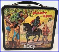 Vintage 1974 PLANET OF THE APES Metal Lunchbox with Thermos ONE OWNER