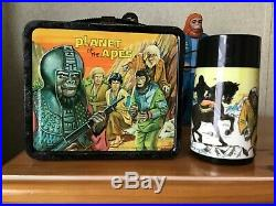 Vintage 1974 Planet Of The Apes Lunchbox And Thermos