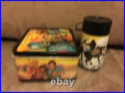 Vintage 1974 Planet Of The Apes Metal Lunchbox With Thermos GC