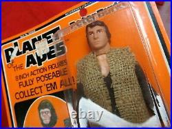 Vintage 1975 Mego Planet Of The Apes Peter Burke Unused Moc