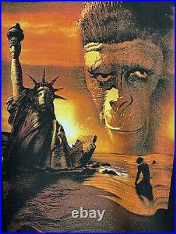 Vintage 1998 Planet of the Apes Desantis Movie Graphic Promo Tee Shirt Size XL