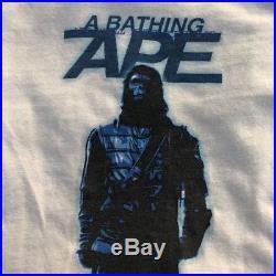 Vintage 1998 Rare Bape x Stash Planet Of The Apes T-Shirt