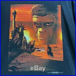 Vintage 1998 The Planet Of The Apes Movie Promo Graphic T Shirt 90s XL Rare