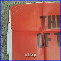 Vintage 3 Sheet 41x81 Movie PosterConquest Of The Planet of the Apes