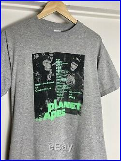 Vintage 80s Planet of the Apes Graphic T Shirt M/L Movie Promo Rare 90s USA