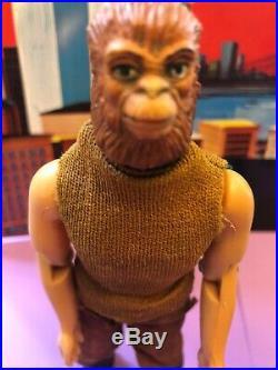 Vintage Ahi Apeman Lot Planet Of The Apes Action Figure Hong Kong Mego