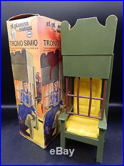 Vintage Cipsa Planet of the Apes THRONE action figure accessory set Mego Mexico