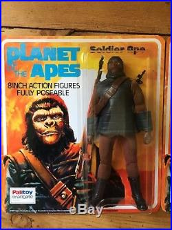 Vintage MEGO PLANET OF THE APES Soldier Ape 8 inch Palitoy Card