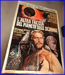 Vintage MOVIE POSTER-Large ITALY 1970-BENEATH the PLANET of the APES 39x55