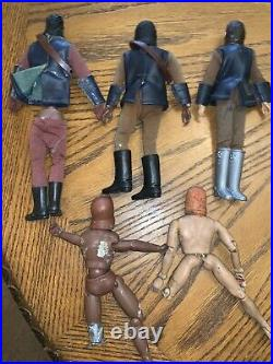 Vintage Mego Lot Of 5 Planet Of The Apes Action Figures 1970s Played With