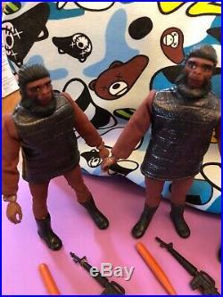 Vintage Mego Planet Of The Apes Action Figure 5X Lizard Soldier Ape Lot POTA