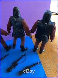 Vintage Mego Planet Of The Apes Action Figure 5X Soldier Ape Lot POTA #2