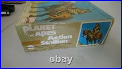 Vintage Mego Planet Of The Apes Stallion Boxed and Working! Not Palitoy