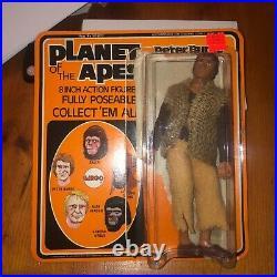 Vintage Mego Planet of the Apes Action Figure Peter Burke Original w Orig Card