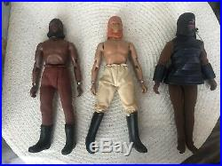 Vintage Mego Planet of the Apes Battering Ram With Box Plus Figures Lot