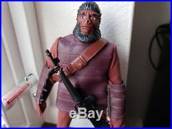 Vintage Mego Planet of the Apes Maroon Soldier Ape Figure Rare Variant Minty