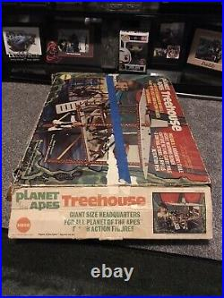 Vintage Mego Planet of the Apes TREEHOUSE parts lot & Instructions & Box