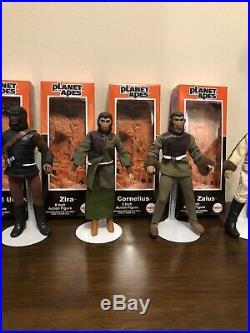 Vintage Mego Pota Lot of 9 8 Ape Action Figures withReproduction Boxes