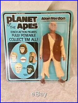 Vintage Mego Unpunched Carded Planet Of The Apes Verdon