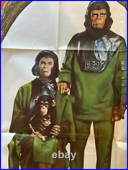 Vintage Movie Poster Escape From The Planet Of The Apes 1971 77 X 42 Huge