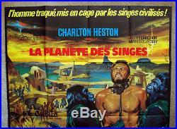 Vintage Original 1968 PLANET OF THE APES Movie Poster Film scifi science fiction