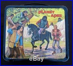 Vintage PLANET OF THE APES Lunchbox Sci-Fi TV Man Cave (1974) C-9 Minty