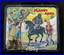 Vintage PLANET OF THE APES Lunchbox & Thermos Sc-Fi (1974) C-8.5 Awesome