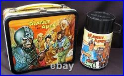 Vintage PLANET OF THE APES Lunchbox & Thermos Sci-Fi (1973) C-8.5+ Awesome