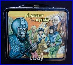 Vintage PLANET OF THE APES Lunchbox & Thermos Sci-Fi (1973) C-8.5 Awesome
