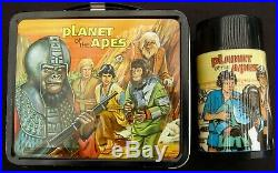 Vintage PLANET OF THE APES Lunchbox & Thermos Sci-Fi Man Cave (1974) C-9 Minty